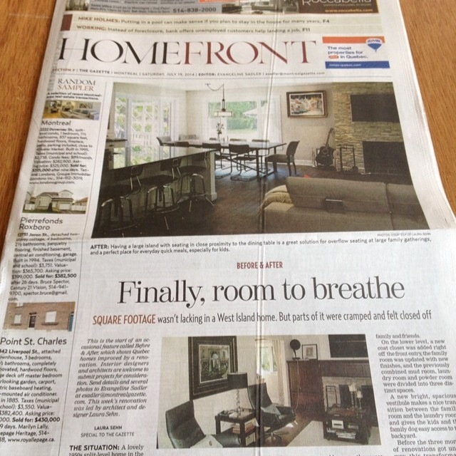 Laura Sehn Homefront Feature